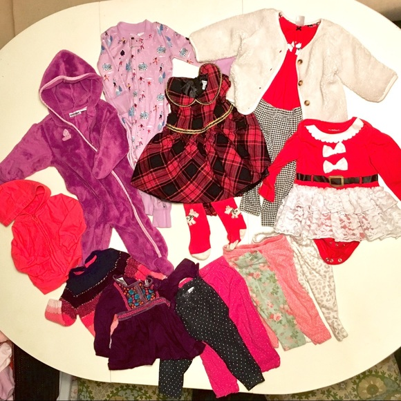 Bnwt Baby Girl 6-9 Dresses And Cardigan Bundle